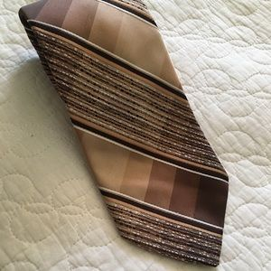 Wembley Brown Embroidered Tie